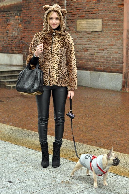 The Blonde Salad con abrigo leopardo