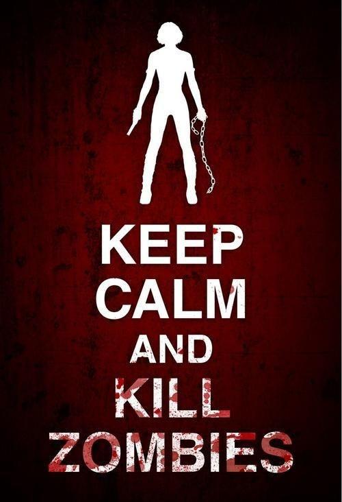 Mantén la calma y mata zombies