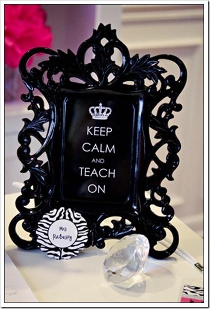 Mantén la calma y enseña