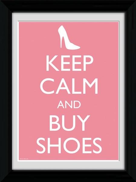 Mantén la calma y compra zapatos