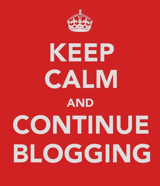 Mantén la calma y continúa bloggeando